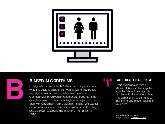 AGENCY OF RELEVANCE BIASED ALGORITHIMS Do algorithms discriminate? They do if the person who write the code is biased. Sof...