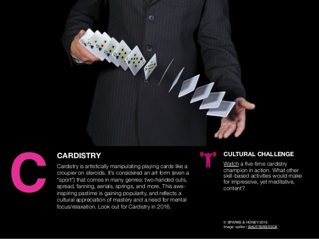 AGENCY OF RELEVANCE CARDISTRY Cardistry is artistically manipulating playing cards like a croupier on steroids. It's consi...