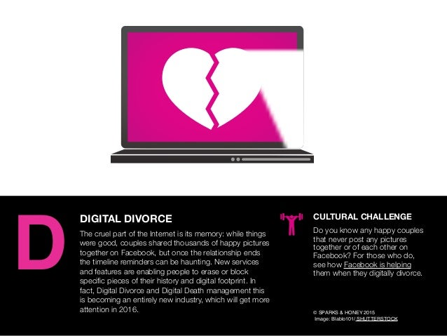 AGENCY OF RELEVANCE DIGITAL DIVORCE The cruel part of the Internet is its memory: while things were good, couples shared t...