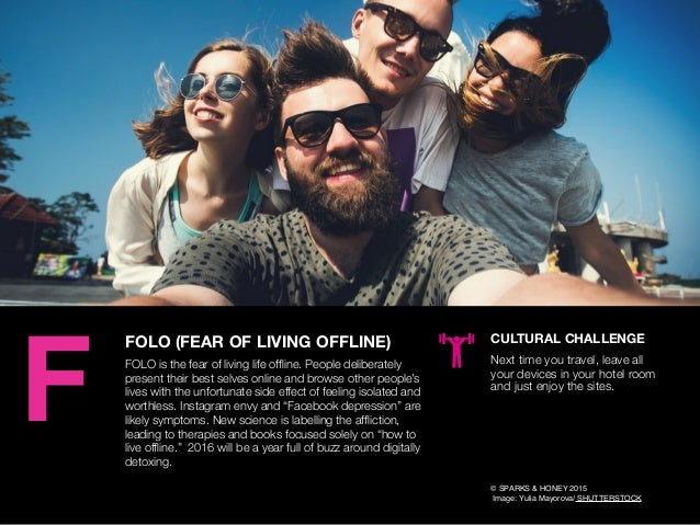 AGENCY OF RELEVANCE FOLO (FEAR OF LIVING OFFLINE) FOLO is the fear of living life offline. People deliberately present thei...