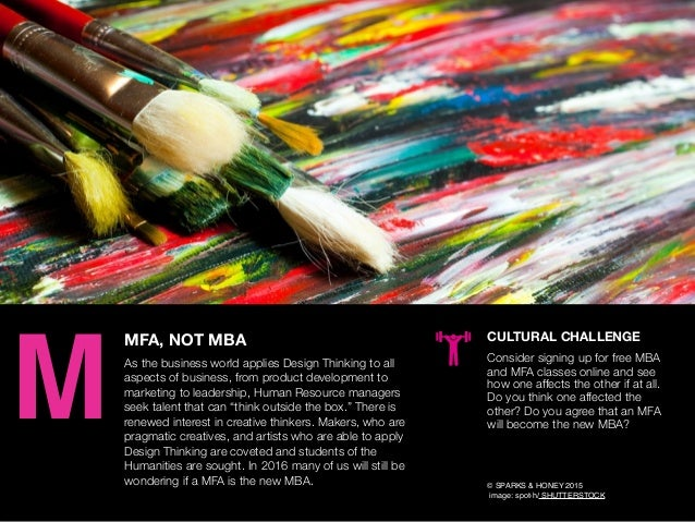 AGENCY OF RELEVANCE MFA, NOT MBA As the business world applies Design Thinking to all aspects of business, from product de...