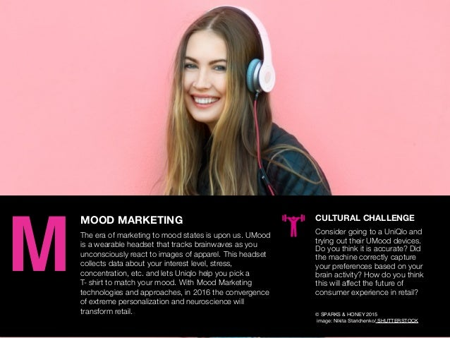 AGENCY OF RELEVANCE MOOD MARKETING The era of marketing to mood states is upon us. UMood is a wearable headset that tracks...