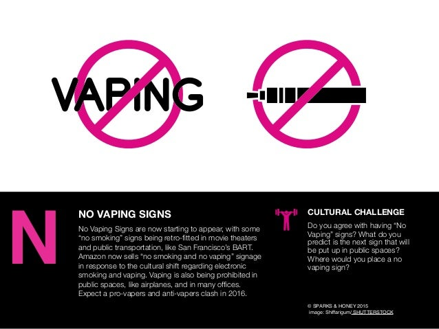 "AGENCY OF RELEVANCE NO VAPING SIGNS No Vaping Signs are now starting to appear, with some ""no smoking"" signs being retro-fi..."