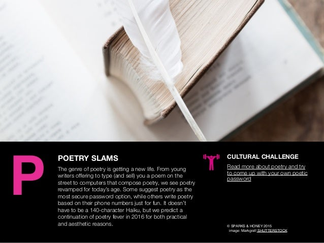 AGENCY OF RELEVANCE POETRY SLAMS The genre of poetry is getting a new life. From young writers offering to type (and sell)...