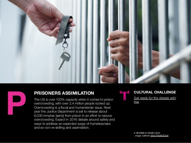 AGENCY OF RELEVANCE PRISONERS ASSIMILATION The US is over 100% capacity when it comes to prison overcrowding, with over 2....