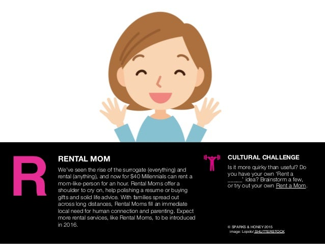 AGENCY OF RELEVANCE RENTAL MOM We've seen the rise of the surrogate (everything) and rental (anything), and now for $40 Mi...