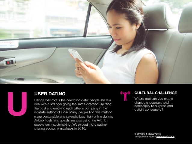 AGENCY OF RELEVANCE UBER DATING Using UberPool is the new blind date: people share a ride with a stranger going the same d...