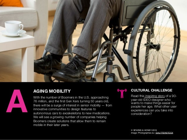 AGENCY OF RELEVANCE AGING MOBILITY With the number of Boomers in the U.S. approaching 76 million, and the first Gen Xers tu...