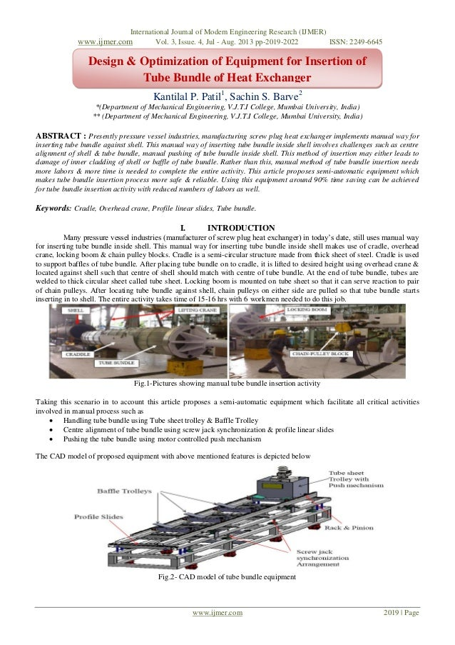 International Journal of Modern Engineering Research (IJMER) www.ijmer.com Vol. 3, Issue. 4, Jul - Aug. 2013 pp-2019-2022 ...