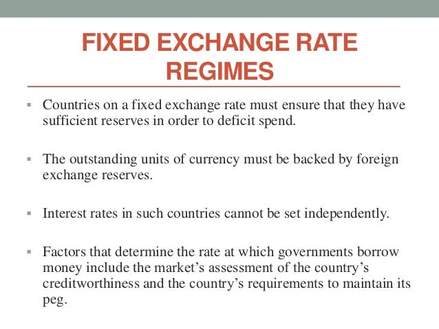 a fixed exchange rate essay A fixed exchange rate, sometimes called a pegged exchange rate, is a type of exchange rate regime where a currency's value is fixed against either the value of.