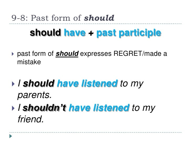 should past tense