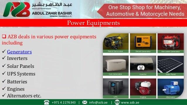 Diesel & Petrol Generators, Machinery Supplier in Dubai, UAE
