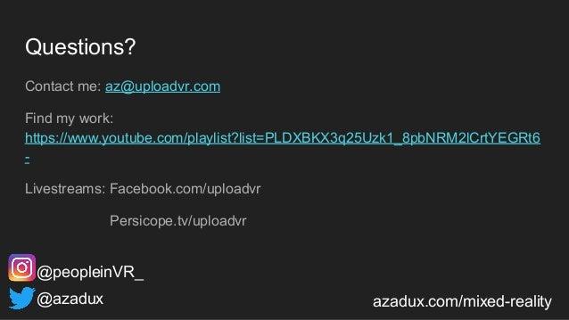 Questions? Contact me: az@uploadvr.com Find my work: https://www.youtube.com/playlist?list=PLDXBKX3q25Uzk1_8pbNRM2lCrtYEGR...