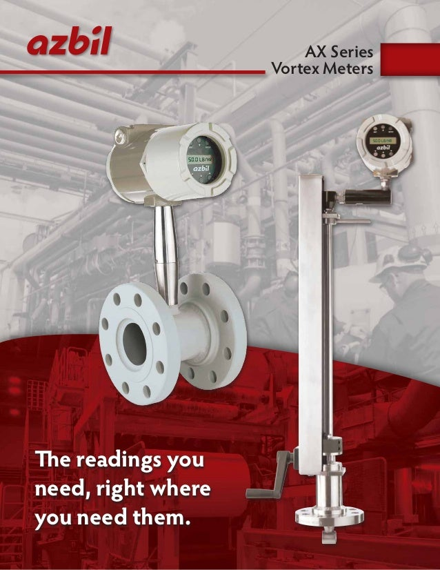 The readings you need, right where you need them. AX Series Vortex Meters