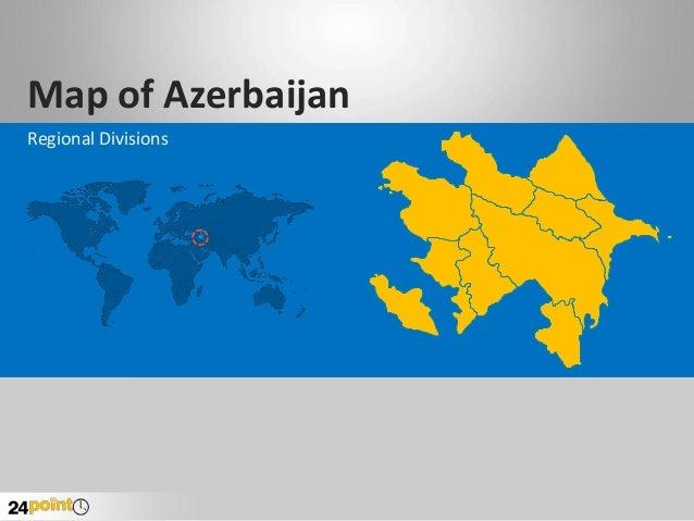 Map of Azerbaijan Regional Divisions