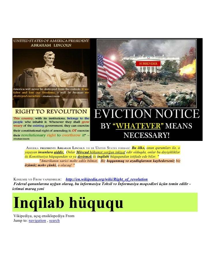 AMERIKA PREZIDENTI ABRAHAM LINCOLN VƏ ER UNITED STATES FORMASI: Bu ölkə, onun qurumları ilə, o       yaşayan insanlara aid...