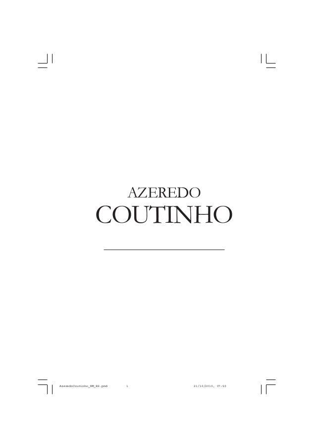 COUTINHO AZEREDO AzeredoCoutinho_NM_ES.pmd 21/10/2010, 07:501