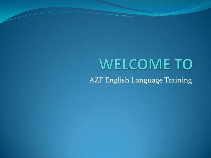AZF English Language Training