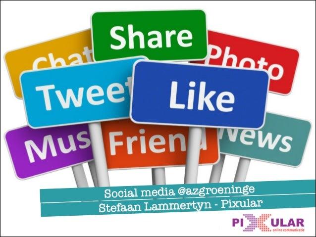 Social media @azgroeninge Stefaan Lammertyn - Pixular