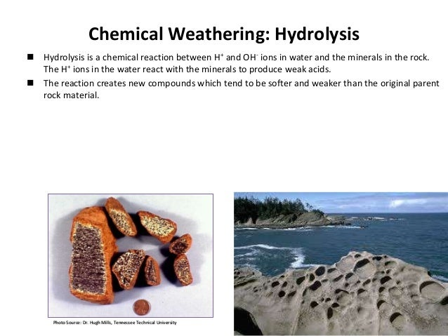 types of chemical weathering i In this lesson, we will take a look at how this process works and see examples of the different types of mechanical weathering the process of mechanical weathering.