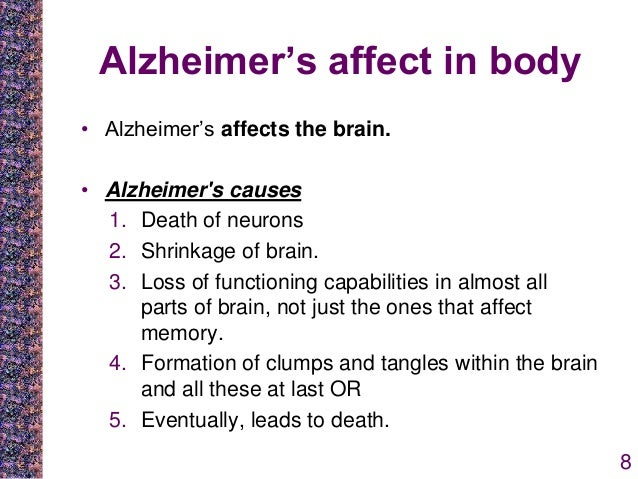 alzheimers disease not just memory loss essay Alzheimer's disease (ad), the most common form of dementia, is a degenerative  disorder of the brain that leads to memory loss 1  ad affects 53 million  severe  memory loss, characteristic of ad, is not a symptom of normal aging healthy.