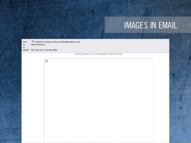 IMAGES IN EMAIL