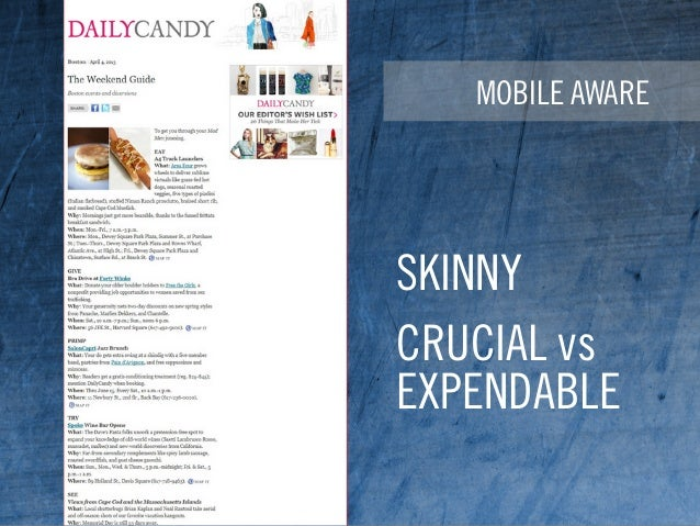 MOBILE AWARE SKINNY CRUCIAL vs EXPENDABLE