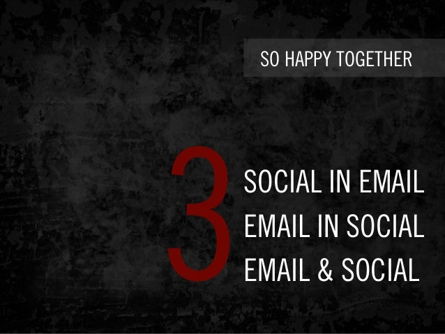 SO HAPPY TOGETHER SOCIAL IN EMAIL EMAIL IN SOCIAL EMAIL & SOCIAL3