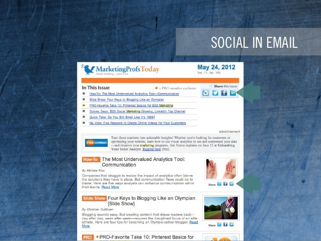 SOCIAL IN EMAIL