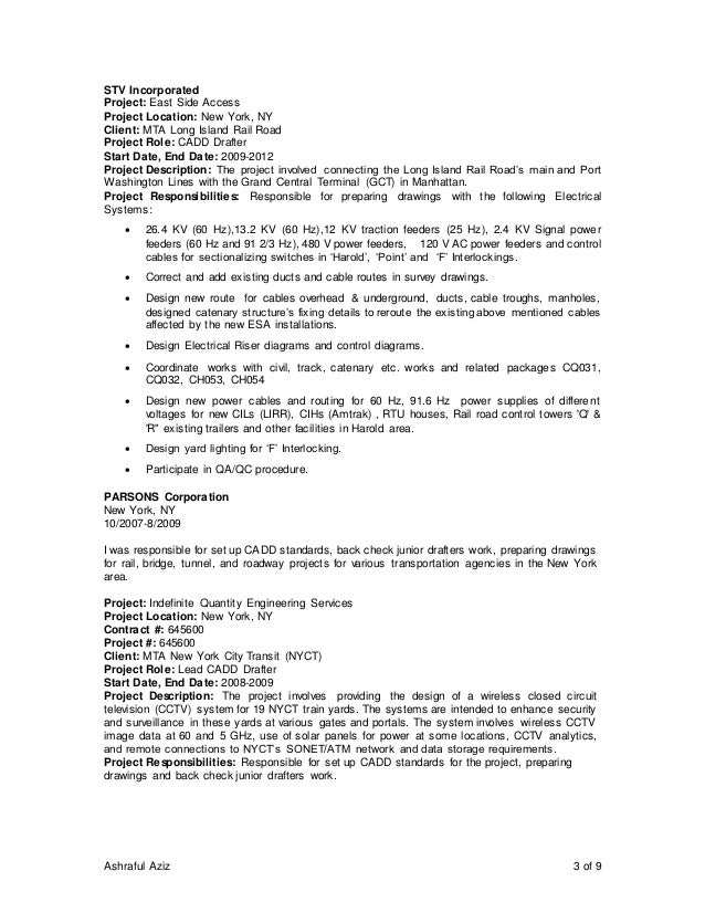 Consultant in management project rail resume transit