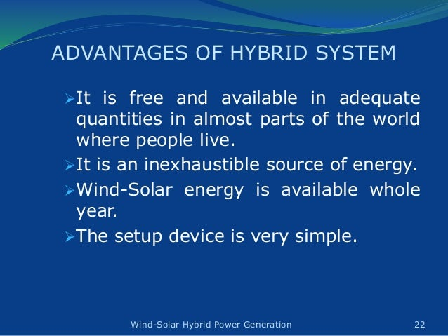 Design Amp Construction Of Wind Solar Hybrid Power