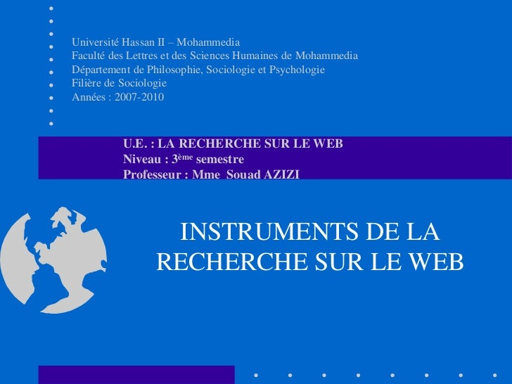 Université Hassan II – MohammediaFaculté des Lettres et des Sciences Humaines de MohammediaDépartement de Philosophie, Soc...