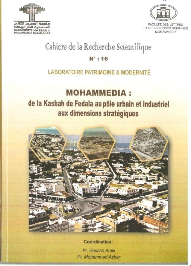1  Usages populaires des forêts périurbaines  Le cas de Ghabat Oued el-Maleh (Mohammedia)  Souad Azizi  « […] la civilisat...