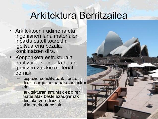 Arkitektura Berritzailea • Arkitektoen irudimena eta ingeniarien lana materialen inpaktu estetikoarekin, igeltsuarena beza...