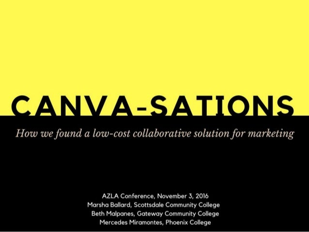 CANVA-sations AZLA presentation