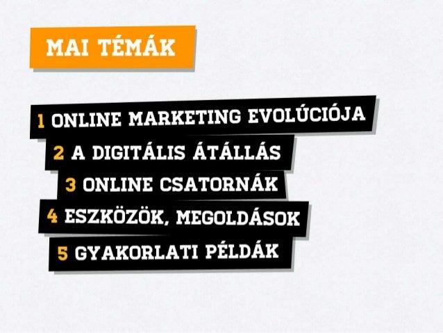 Az online marketing fejlődése Slide 3