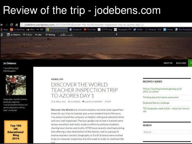Review of the trip - jodebens.com