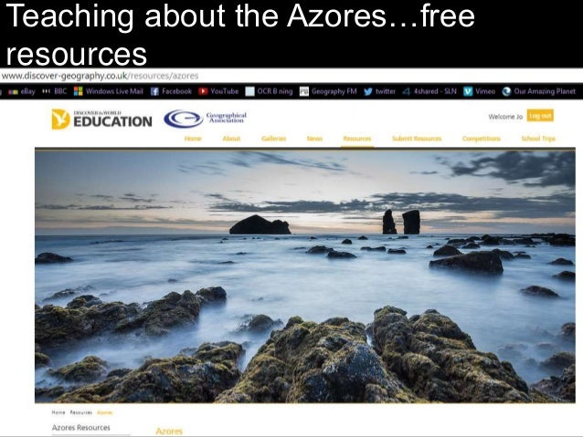 Teaching about the Azores…free resources
