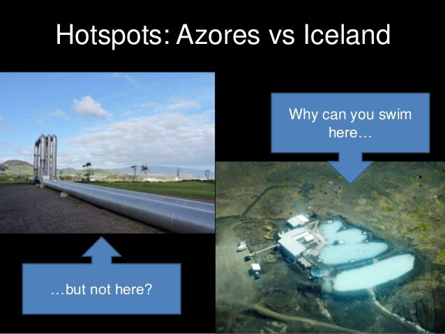 Hotspots: Azores vs Iceland Why can you swim here… …but not here?