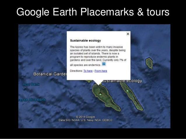 Google Earth Placemarks & tours
