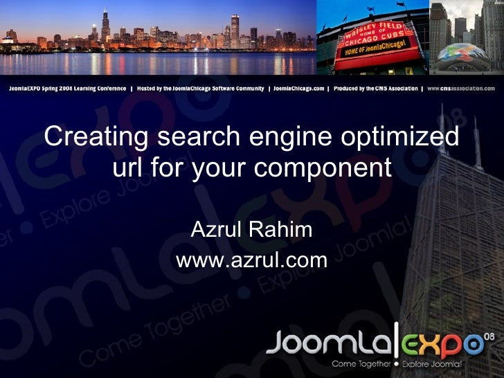 Creating search engine optimized url for your component Azrul Rahim www.azrul.com