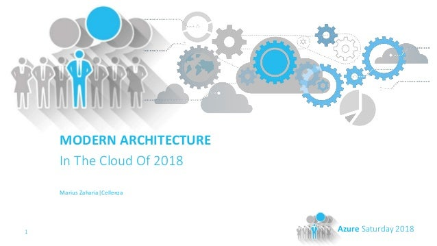 1 Azure Saturday 2018 MODERN ARCHITECTURE In The Cloud Of 2018 Marius Zaharia|Cellenza