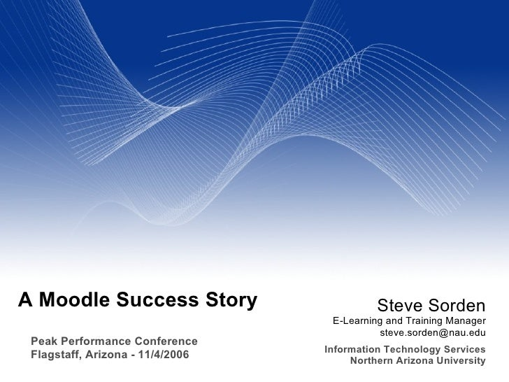 A Moodle Success Story