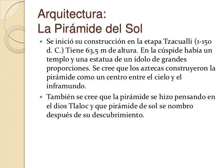El ArteEl arte azteca se expresa a través de la música, laliteratura, la poesía, la escultura, para los queutilizaban inst...