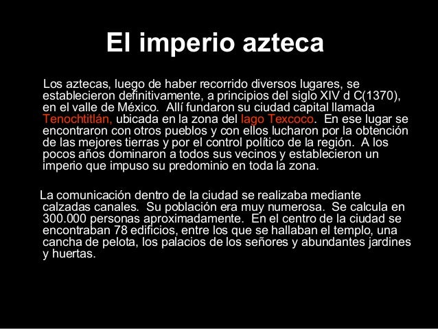 Aztecas Slide 2