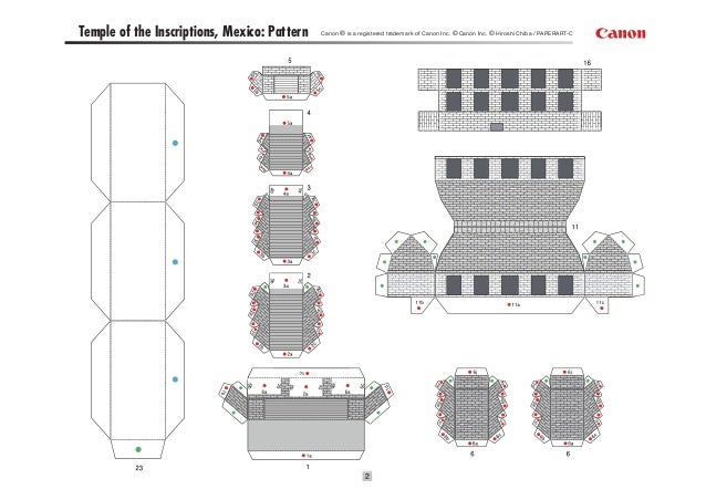 Papercraft Azteca Zigurat