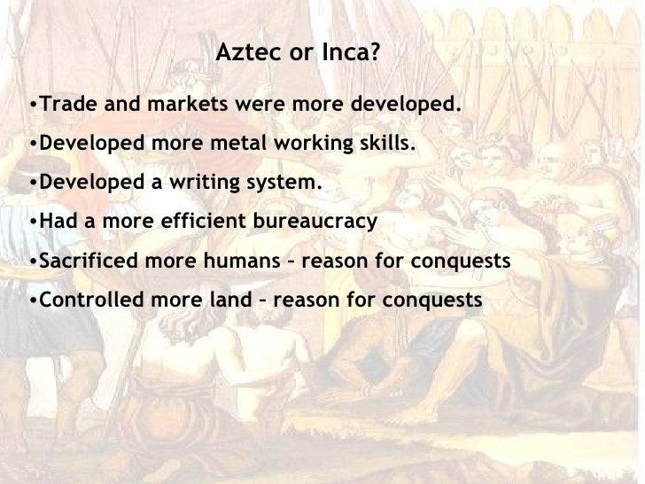 Aztec inca comparison