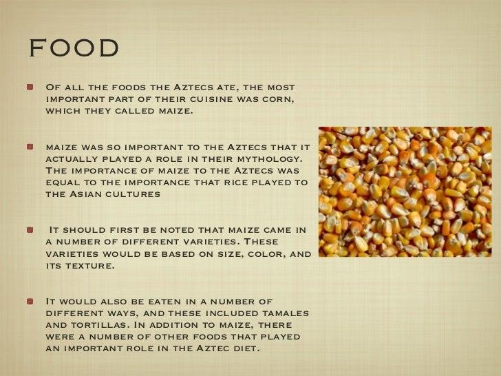 aztec symbols gods aztecs foods ate most