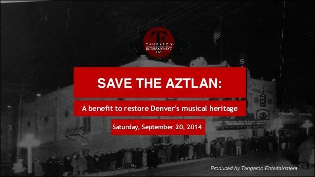 Save the Aztlan Theatre band tribute