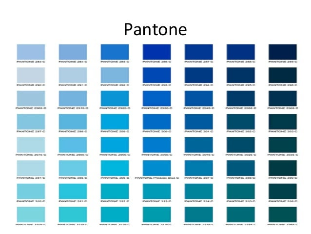Color azul - Gamas de colores azules ...
